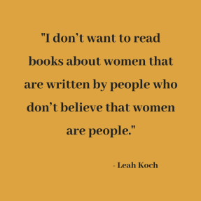 I don_t want to read books about women that are written by people who don_t believe that women are people